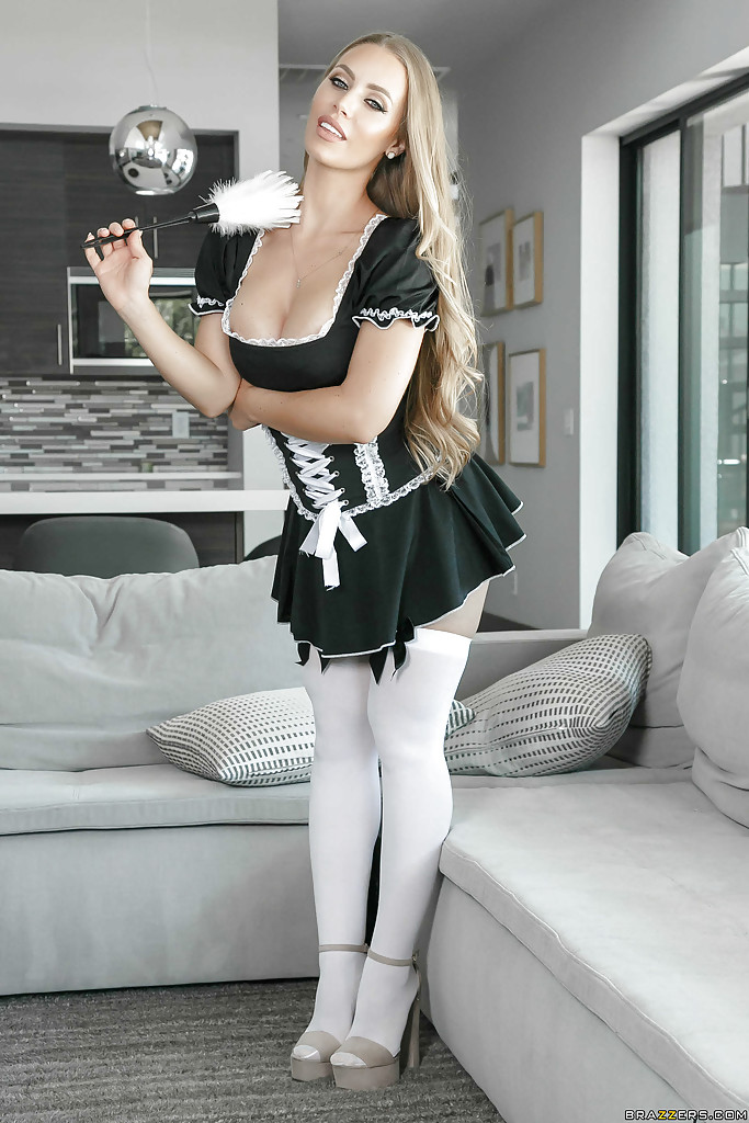 Hot Blonde Big Tits Maid