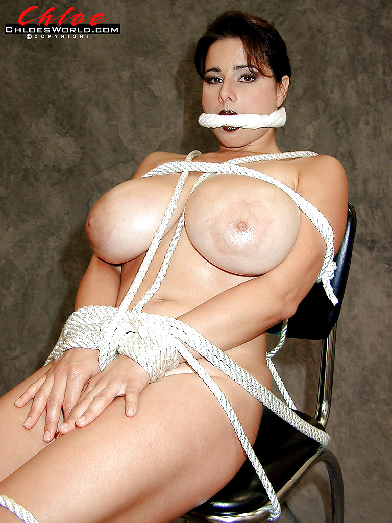 Tits tied with rope