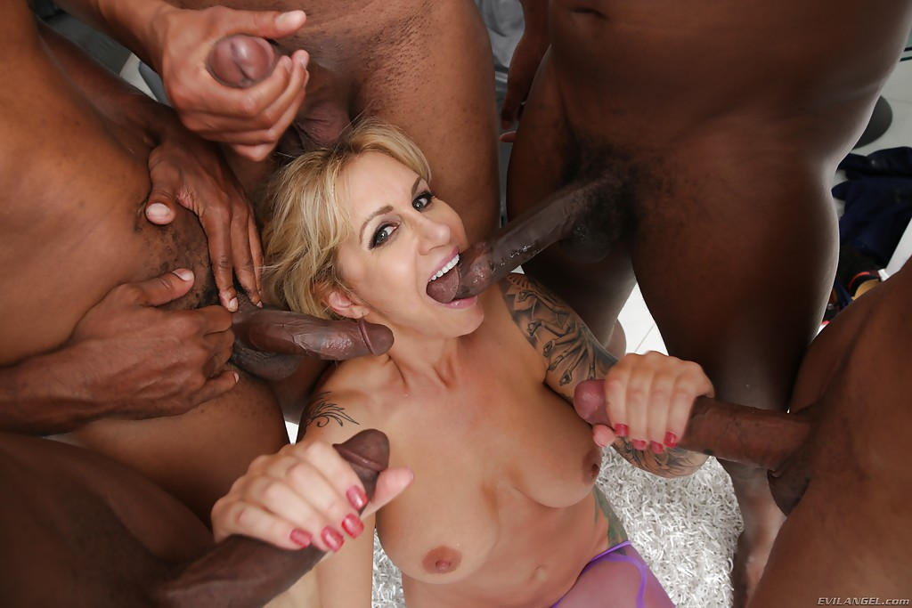 Aj applegate rides a random black cock - 1 part 5