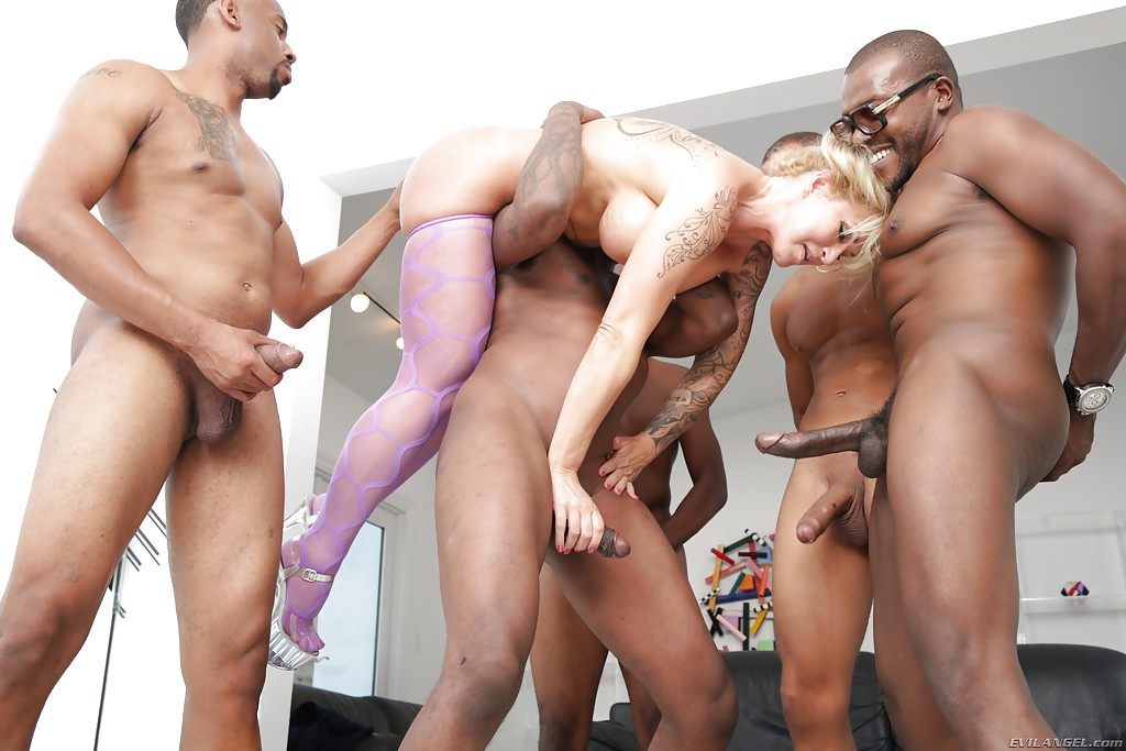 Mature interracial gangbang galleries