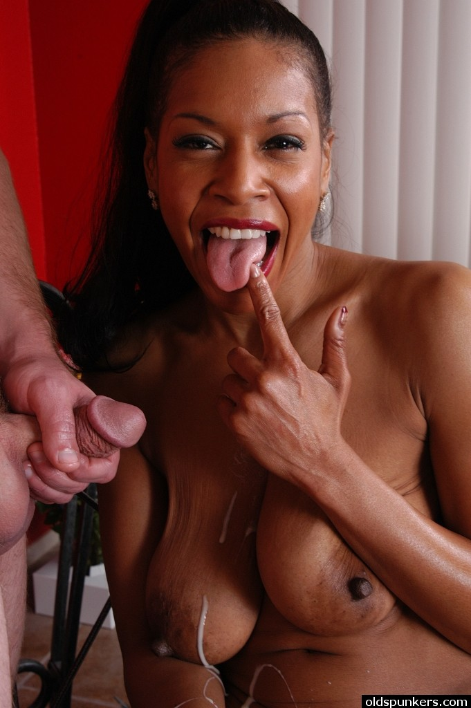 cum Ebony mature