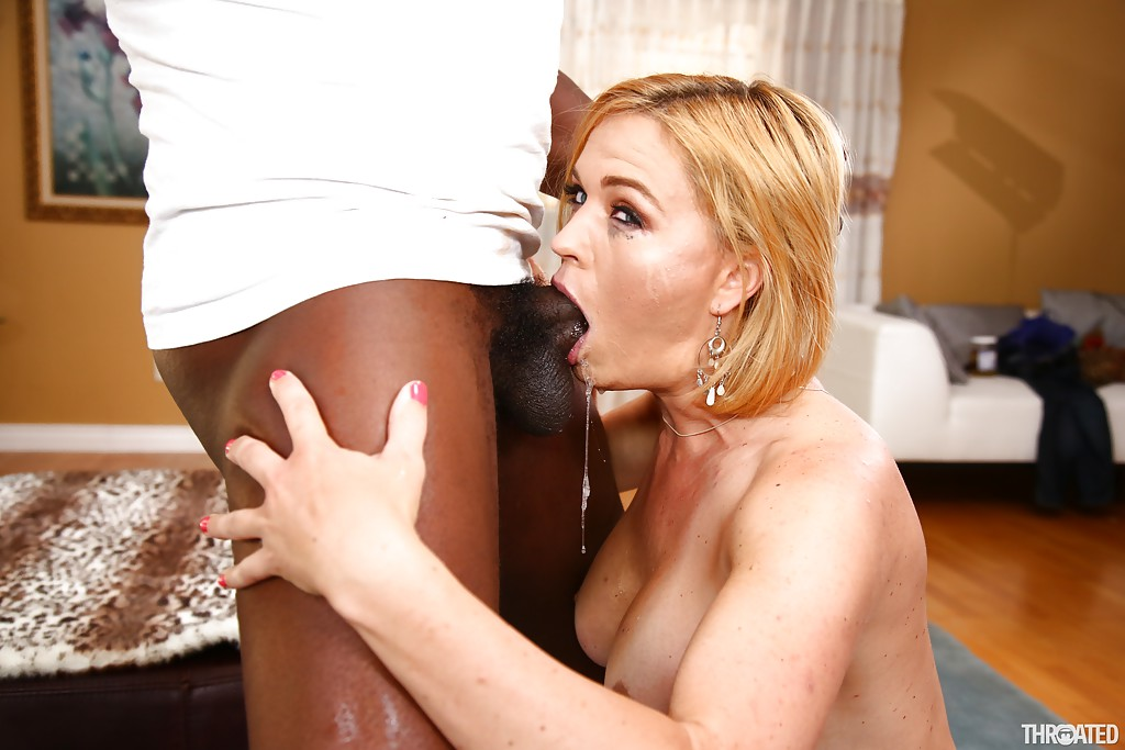 Valuable piece Interracial mouth fuck
