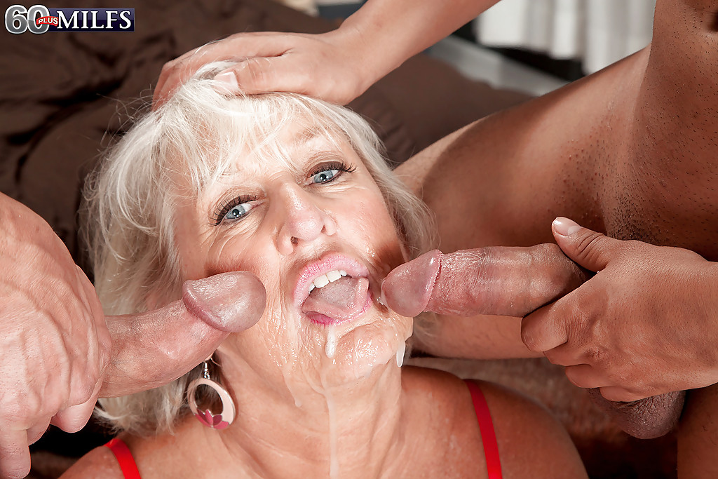 grannies Cum mouth in