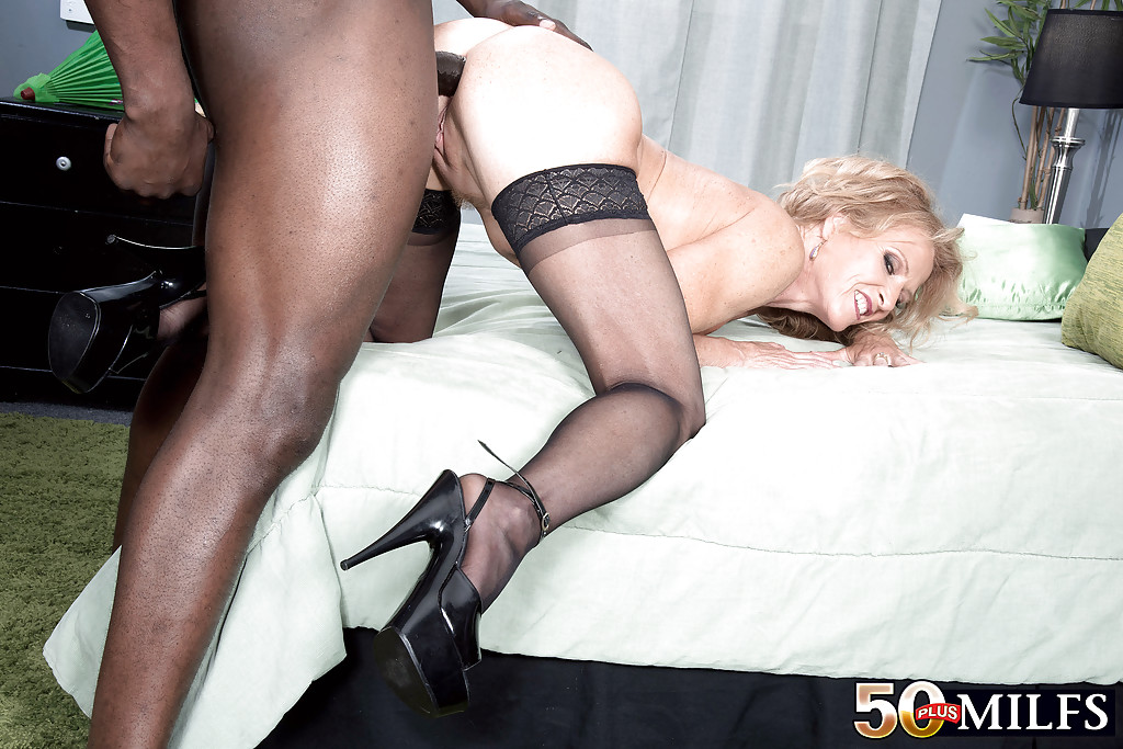 Wife interracial stockings creampie