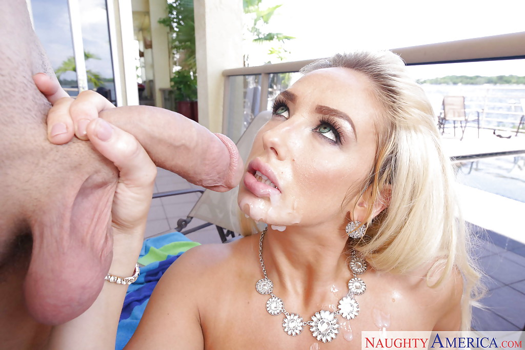 Blonde mom olivia fox gets fucked by the pool