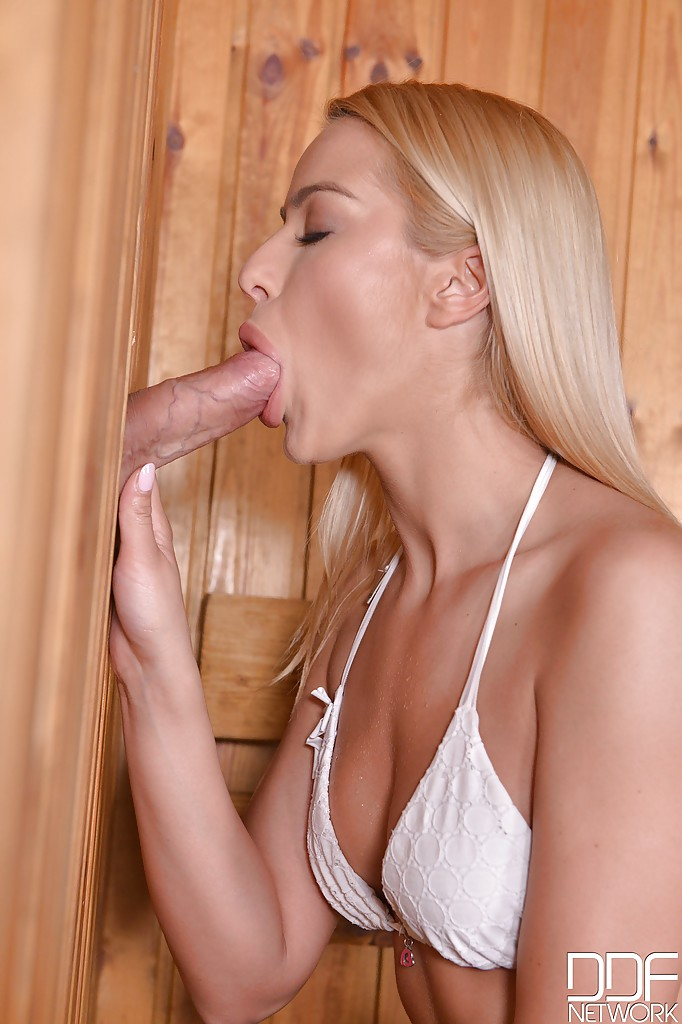 hot chick giving blowjob