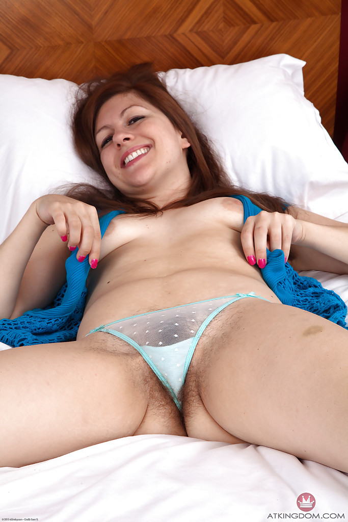 White see through panties hairy pussy