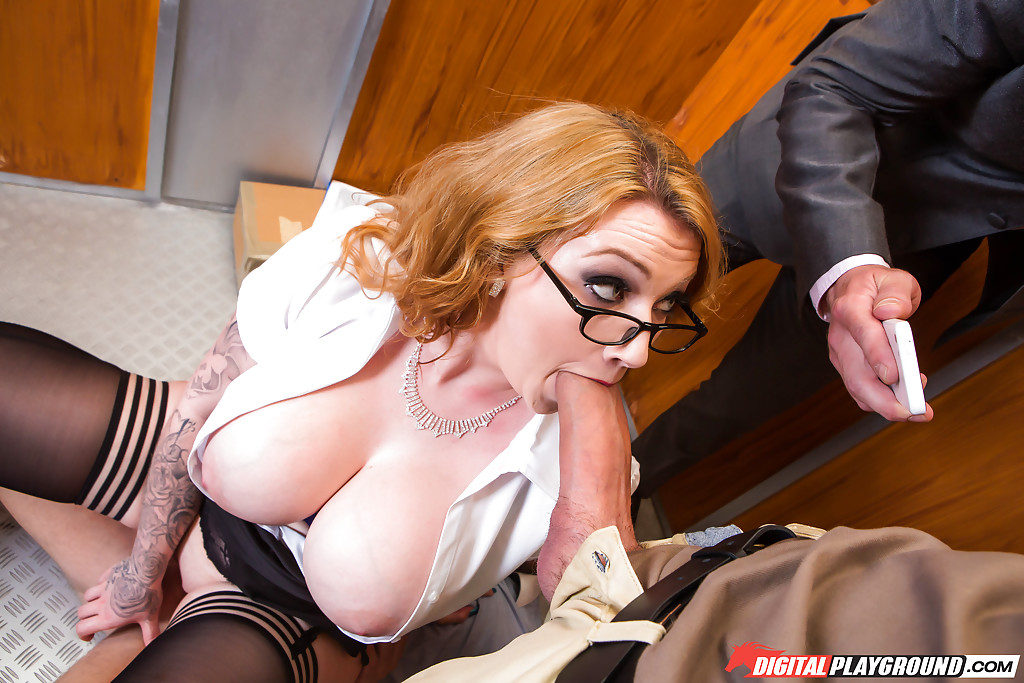 Digital playground - elevator threesome