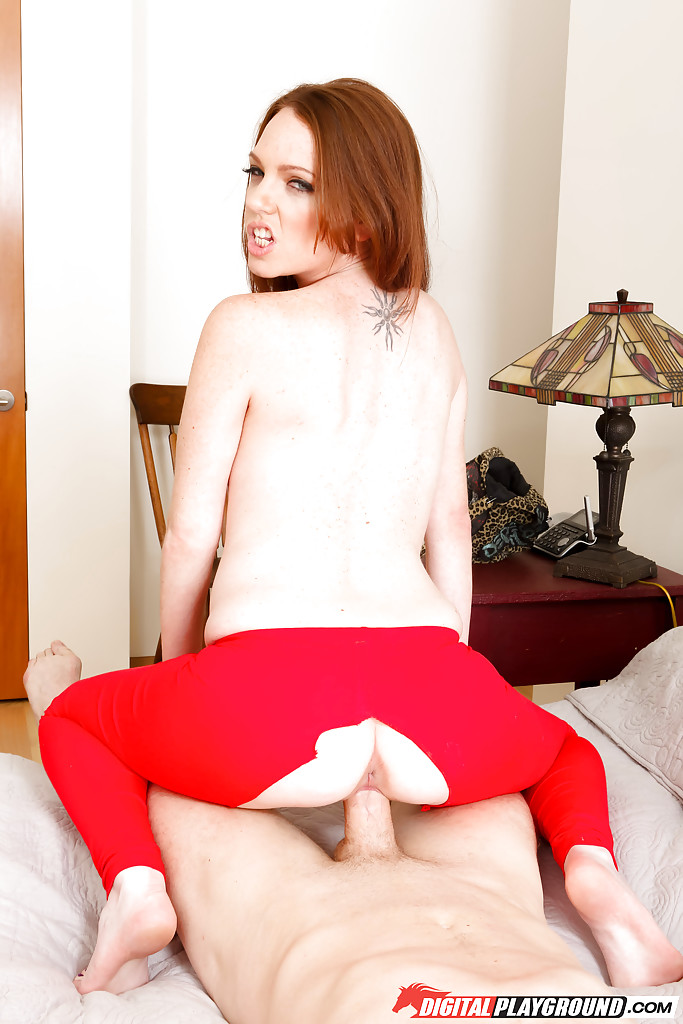 ... Babe in red panty hose Kassondra Raine is fingered and fucked after  sucking ...
