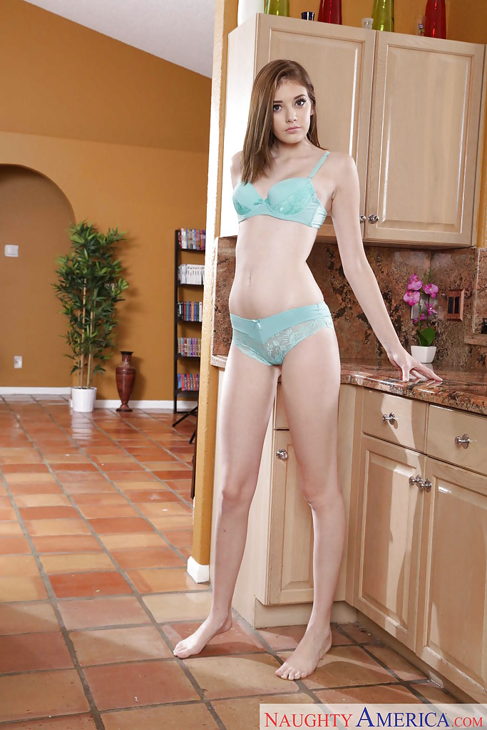 nude young girls in kitchen