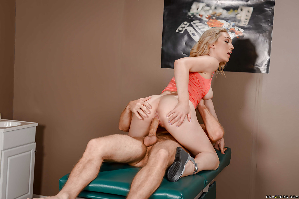 blonde anal doctor - ... Blonde chick Lily Labeau fucking her doctor on examination table ...