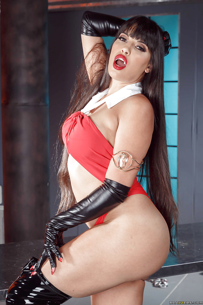 bbw vampire pussy - ... Latina Mercedes Carrera modeling in long boots and gloves with vampire  teeth ...