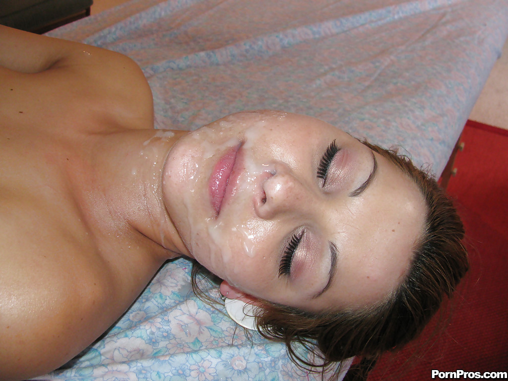 Face fucked while massaging tits