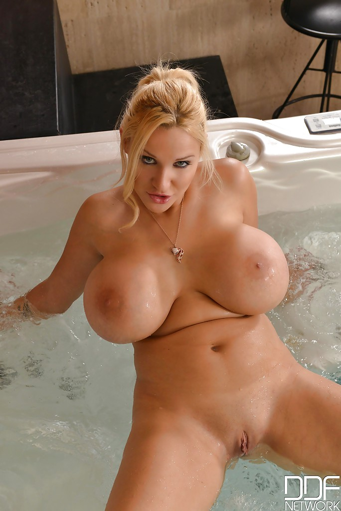 That big tits blonde pussy with
