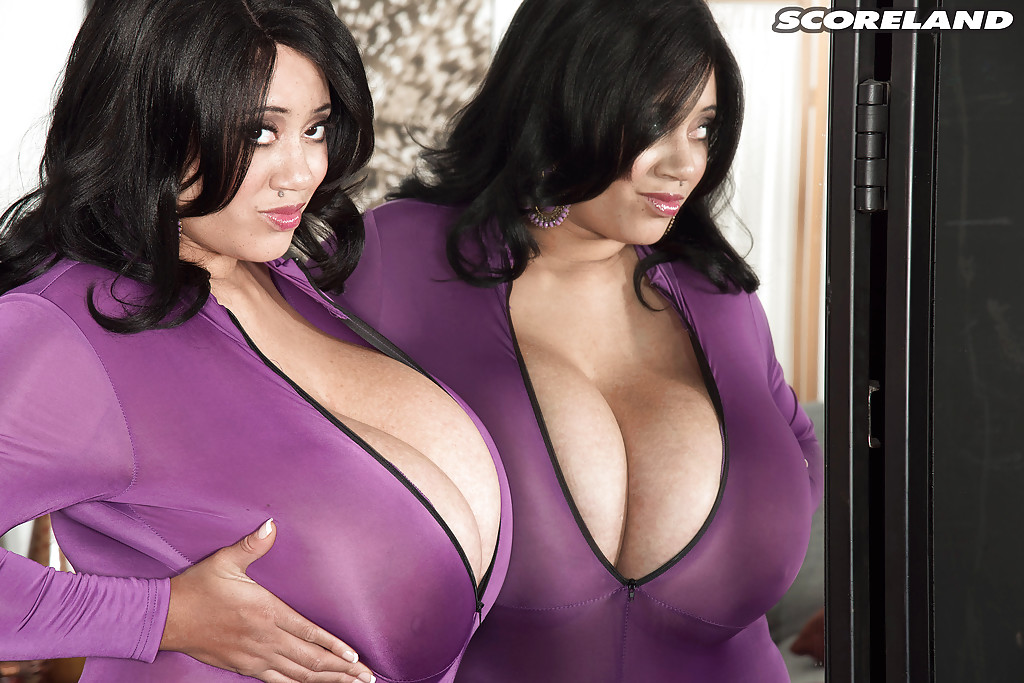 Latina milf in purple