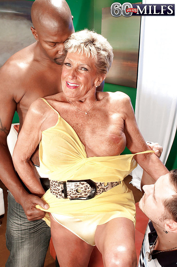 White granny having sex black guys