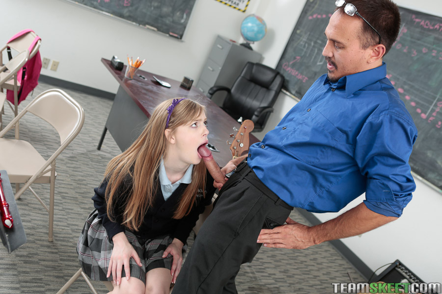 Innocenthigh schoolgirl blonde teen macy cartel fucks prof