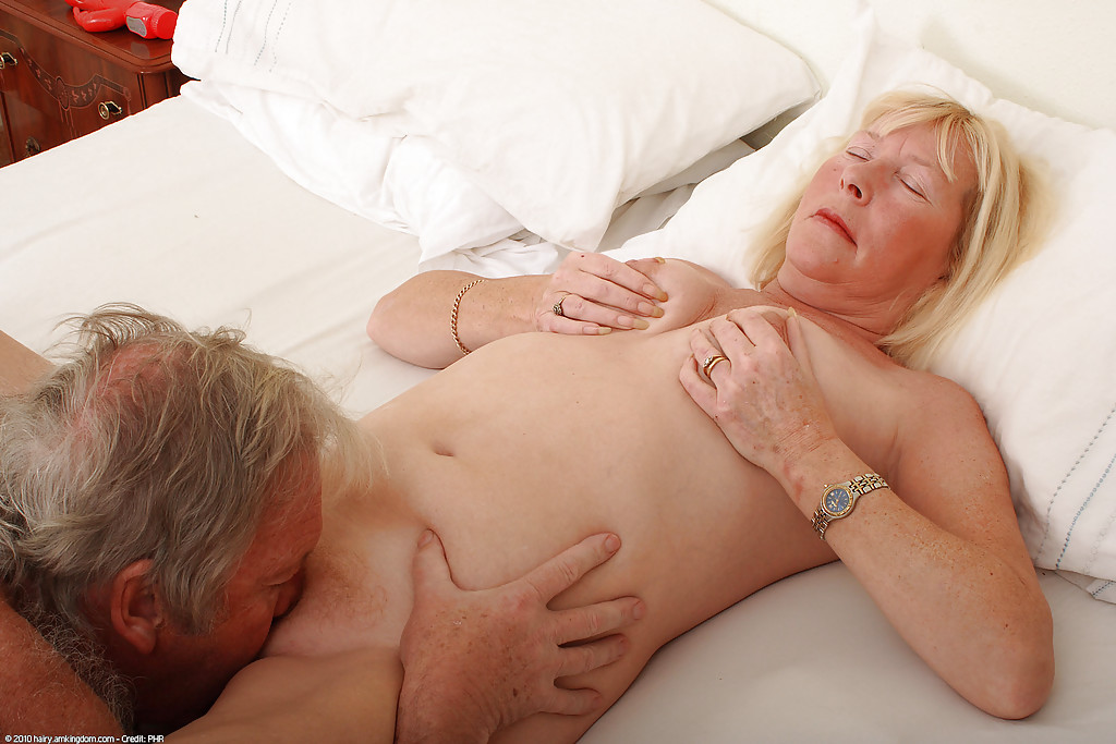 Hairy grandma sex