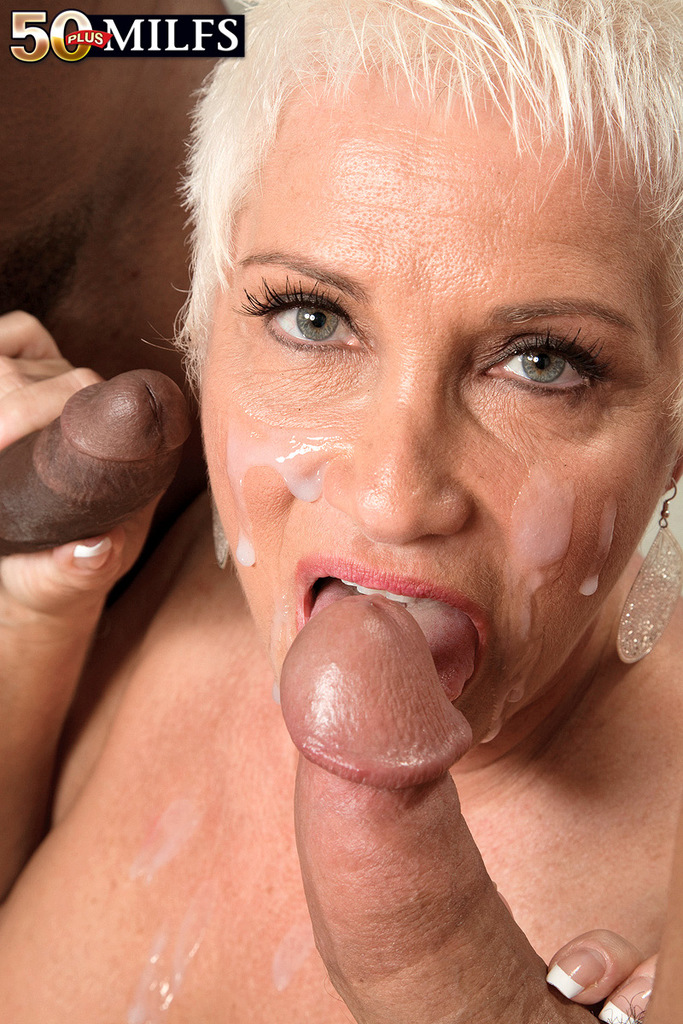 Mature double blow job #13