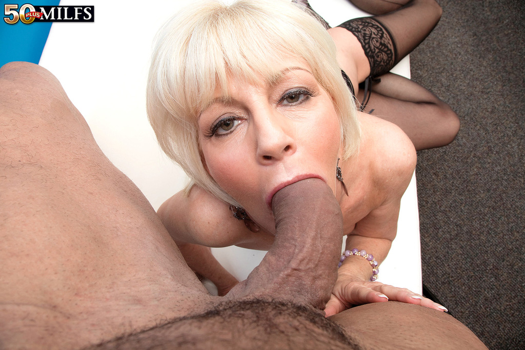 ... Older blonde granny Eve Bannon takes mouthful of jizz in her advanced  years ...