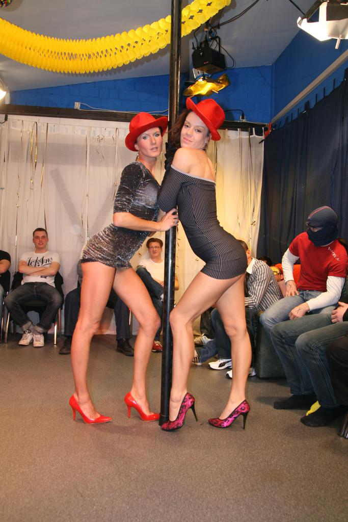 ... Twin sisters with great legs take on all cocks during wicked group sex  fucking ...