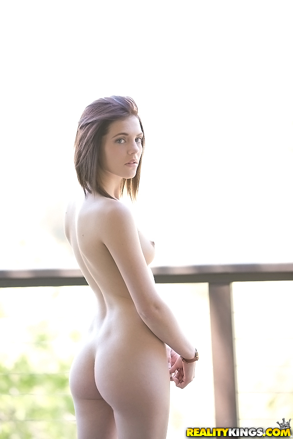 Fresh Faced Teen Kiera Winters Removes Her Clothes For Nude Poses On Balcony