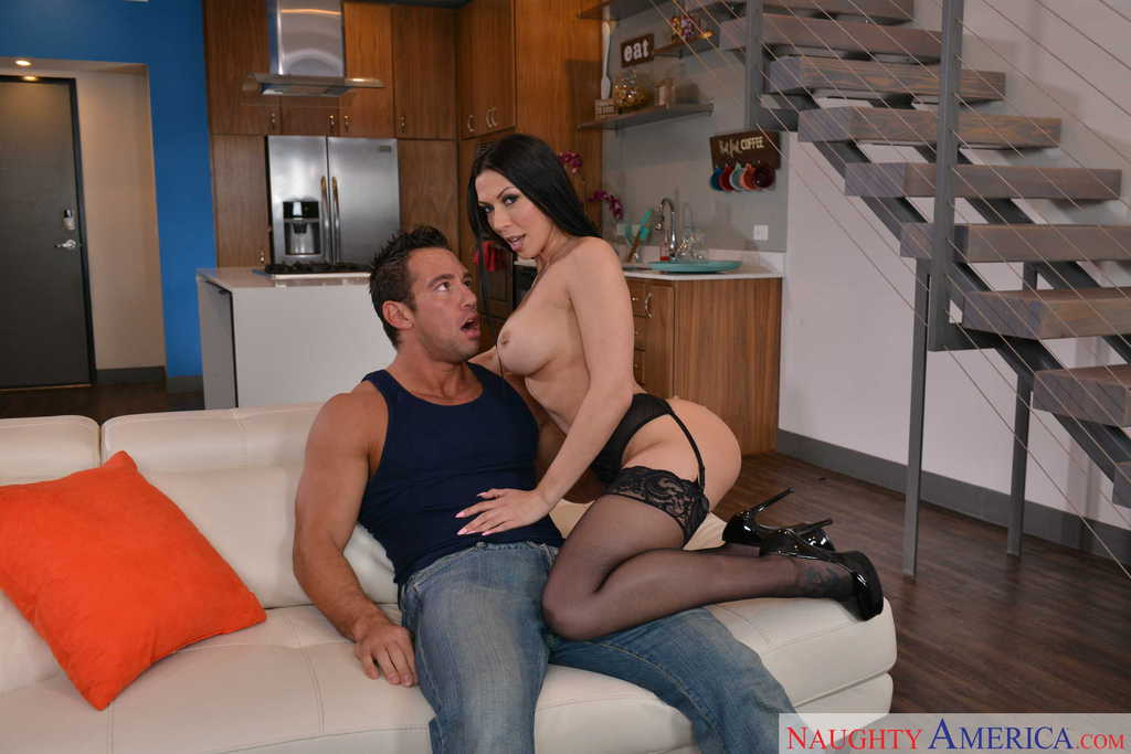 ... Brunette cougar with fantastic curves Rachel Starr gets cock in mouth  and cunt ...