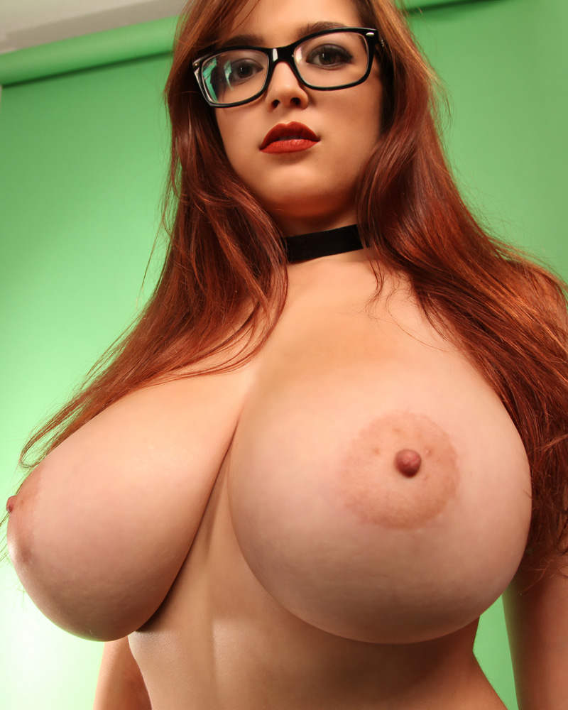 Brunette Glasses Big Tits