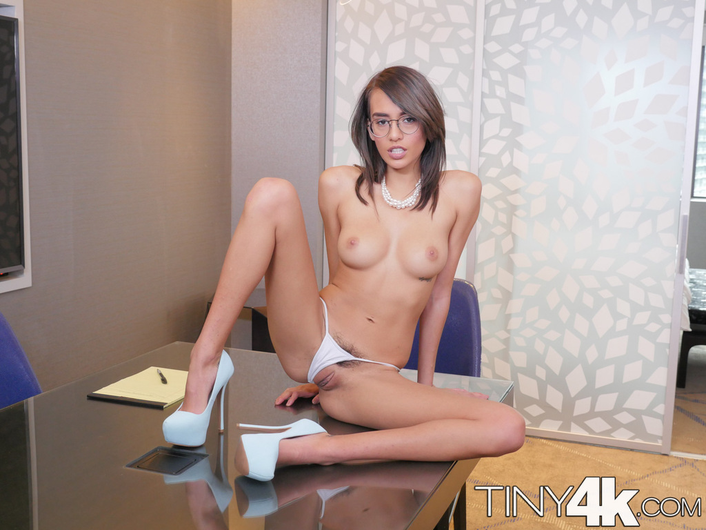 teen secretary janice griffith is encouraged to get naked