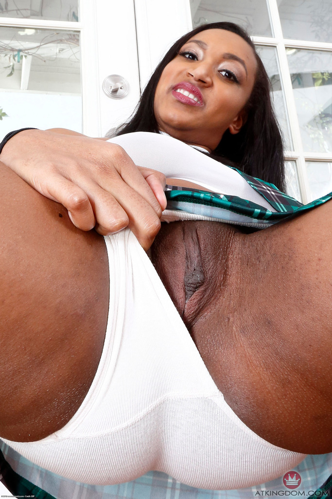 Upskirt naked black girl