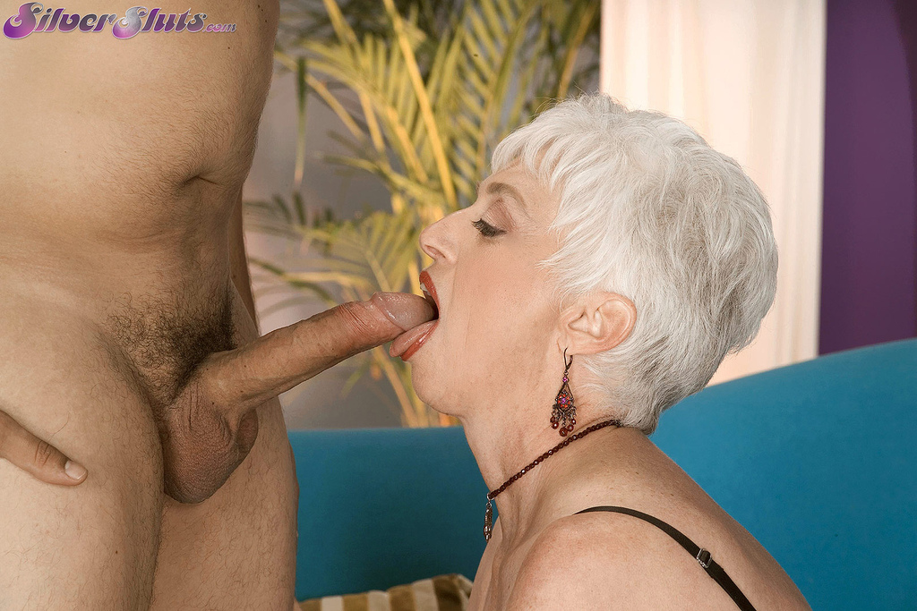 Granny getting some young cock