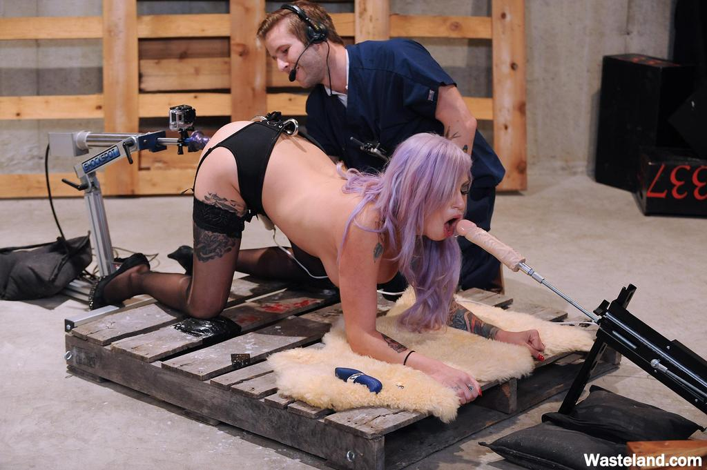 Pantyhose fuck machines removed