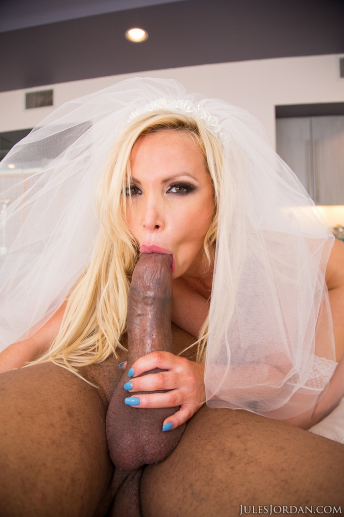 ... New bride Nikki Benz bangs her husband's big black cock after wedding  is ...