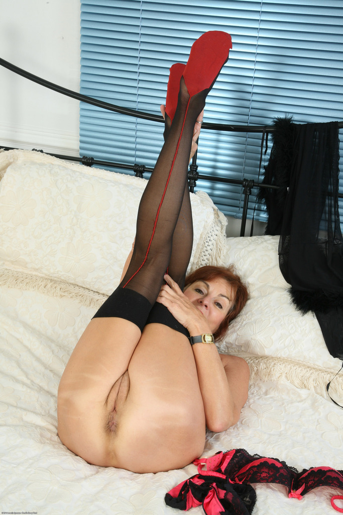 Up her anus squeezed her nipples stockings high heels casually come