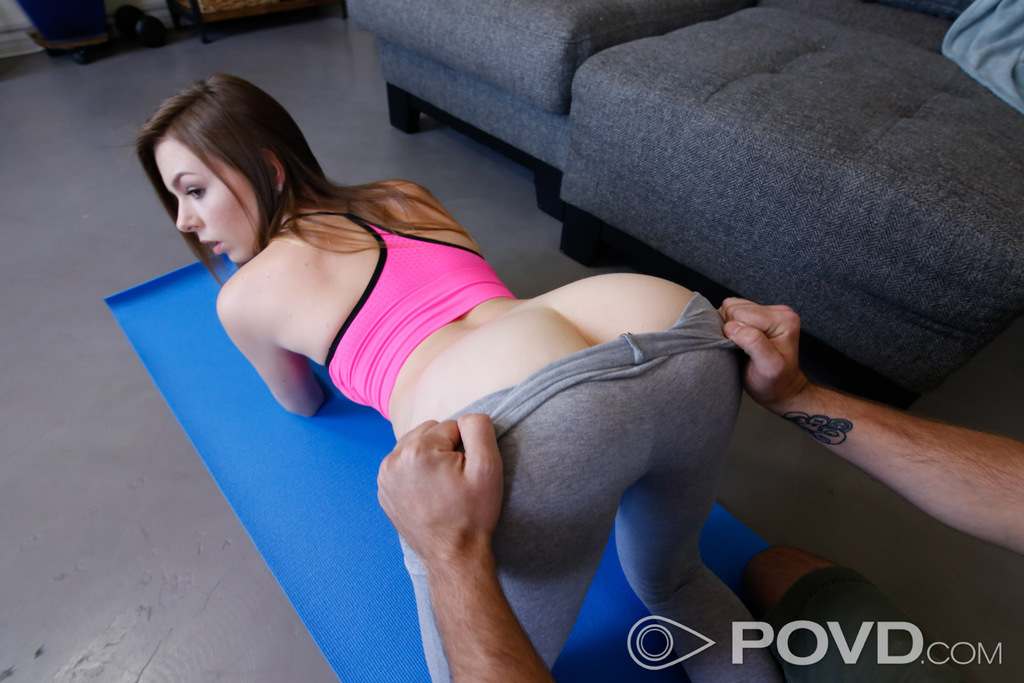 Something handjob during yoga