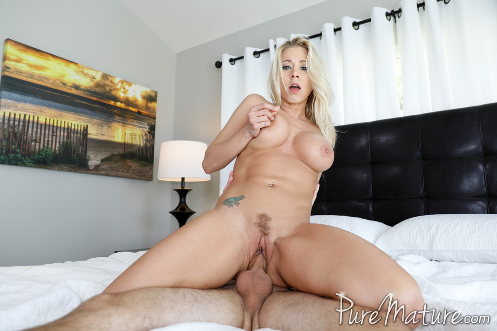 Busty blonde MILF Katie Morgan gets ate out before having sex