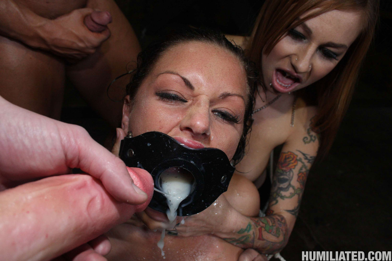 Girls forced to cum