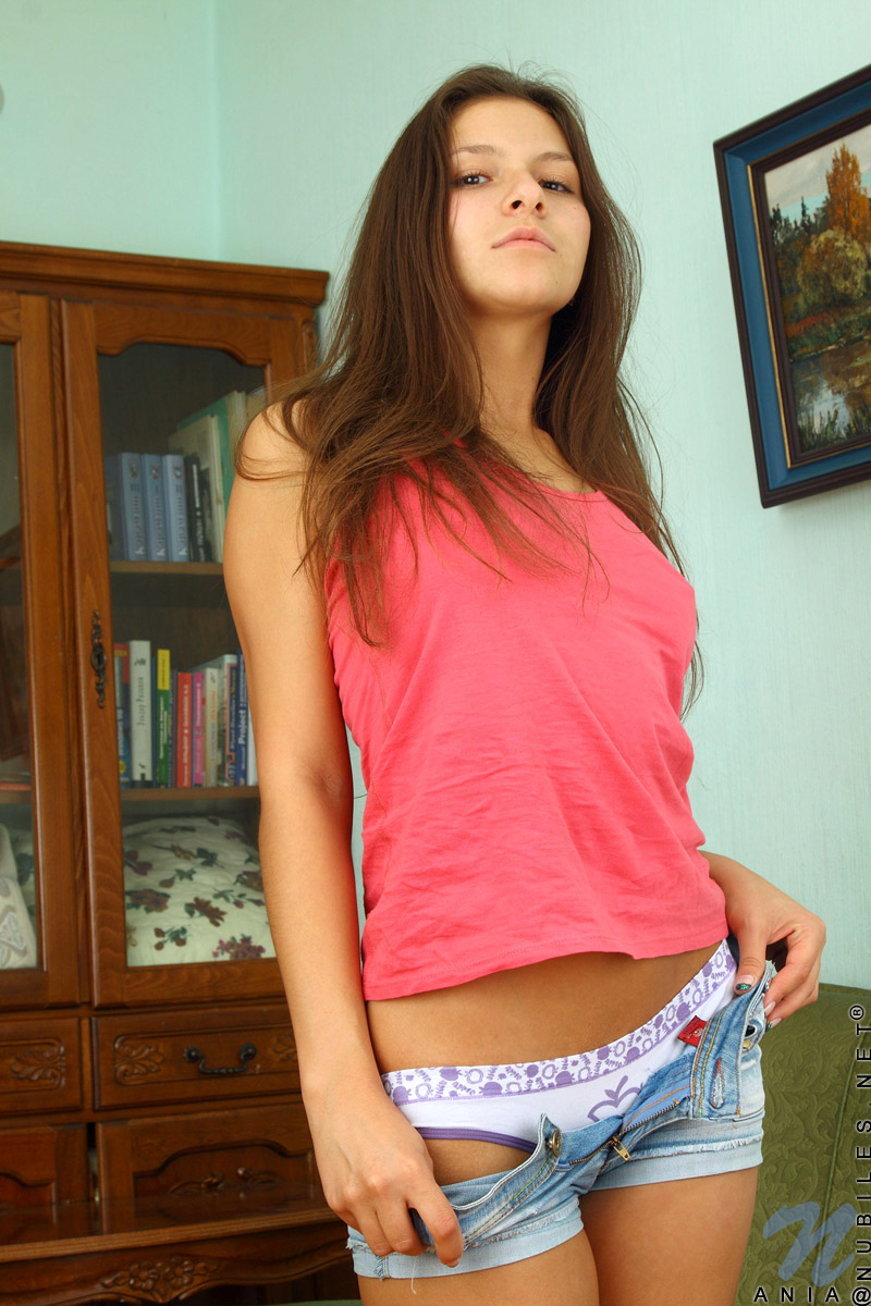 Ania Naked naughty teen girl strips naked in her father's favourite