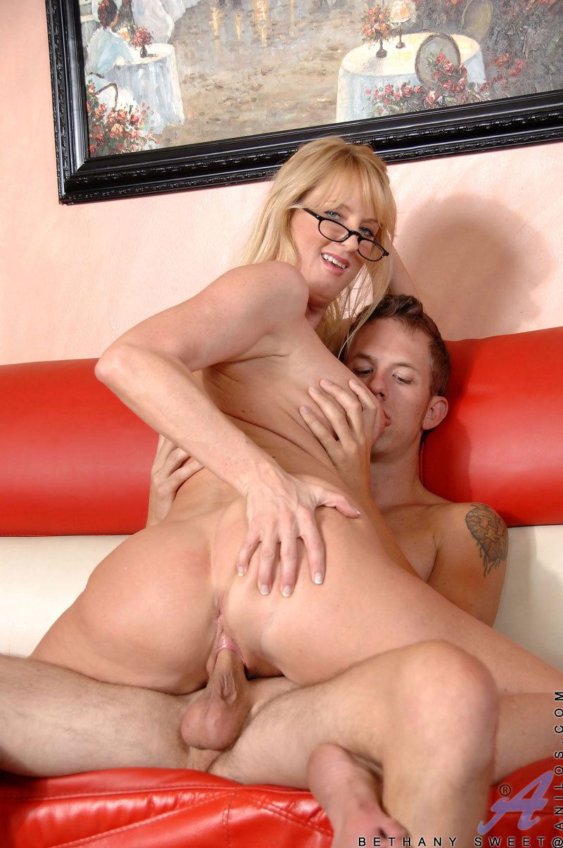 image Blonde milf bethany black stockings sm65