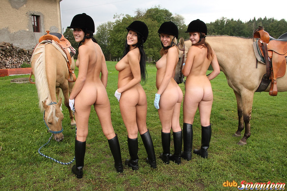 Did boots naked riding girl speaking