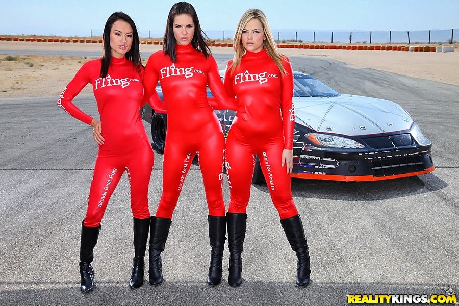 Car girls race sexy