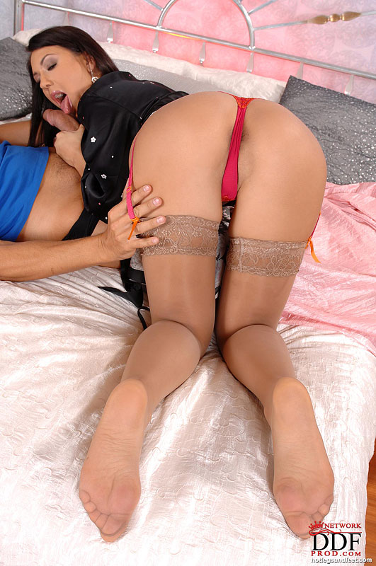 Black Stockings Anal Hd