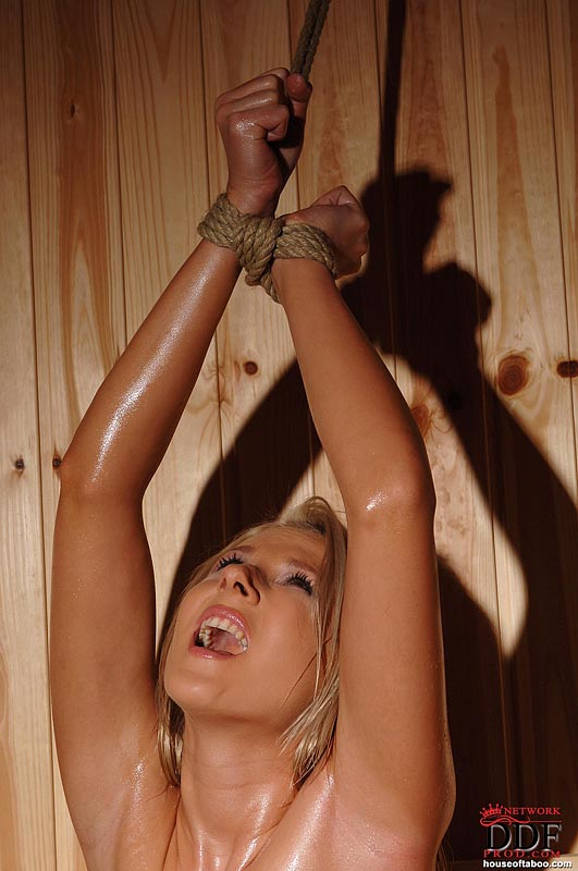 Nasty slave with bound nippels 5