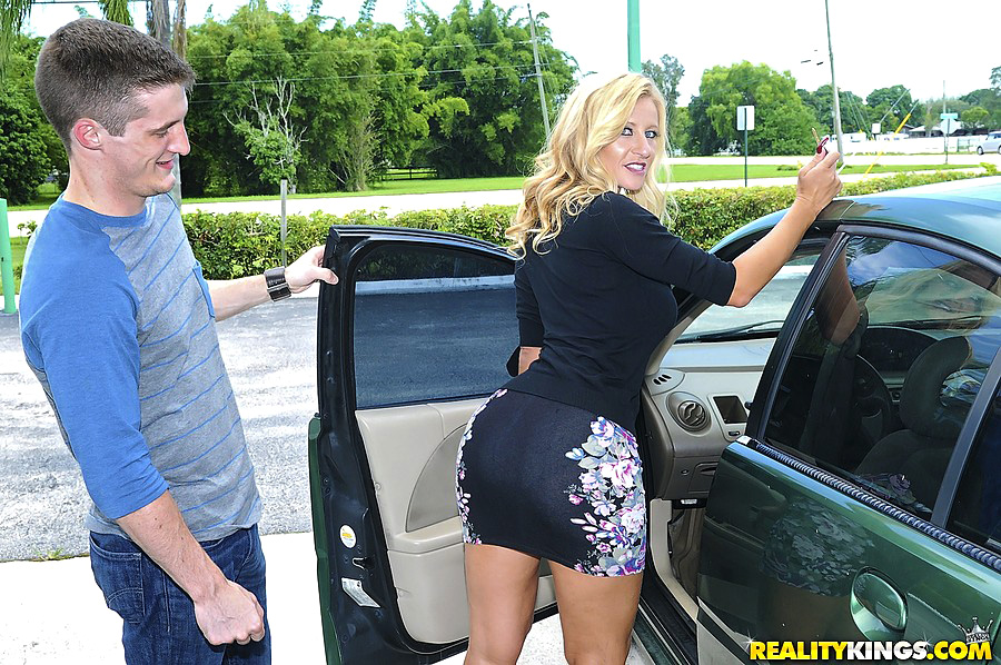 Blonde Milf Big Tits Car