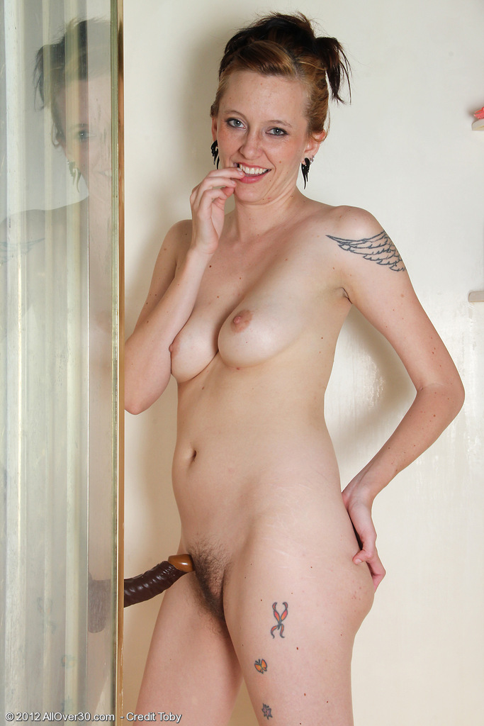 Mature shower dildo