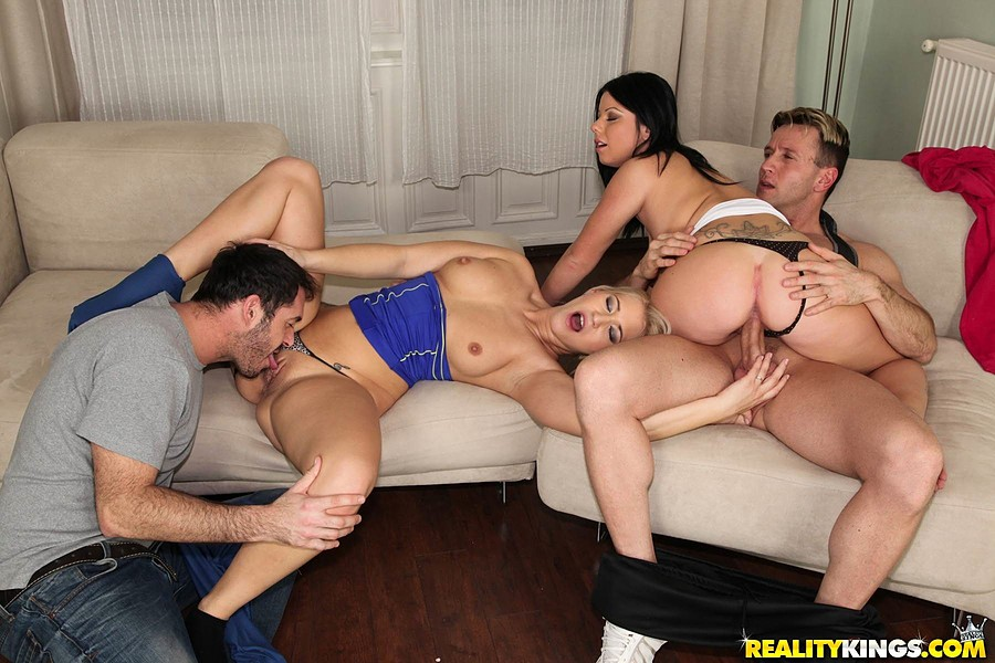 group sex european - ... Hot European sluts with tight booty getting banged in gym group sex ...