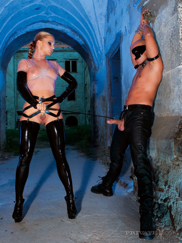 ... Fetish mistress directs her two sex slave studs in a cum dripping 3some  ...