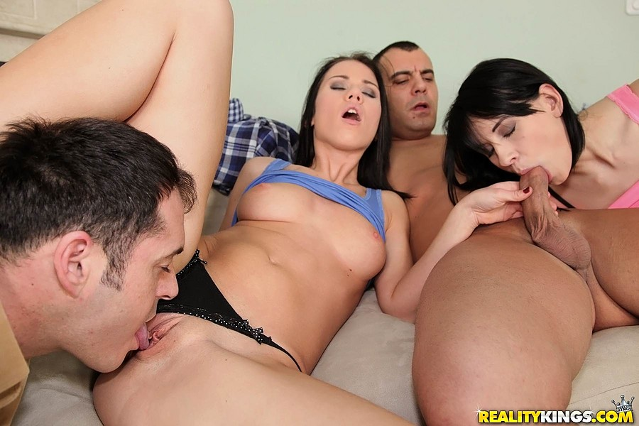 ... European swingers swap wives and girlfriends during foursome fuck party  ...