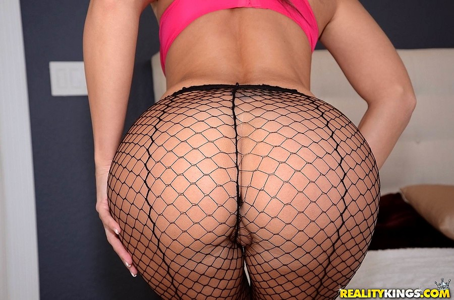 milf fishnet - ... Hot cougar in fishnet stockings fucks the younger guy that fixed her  car ...