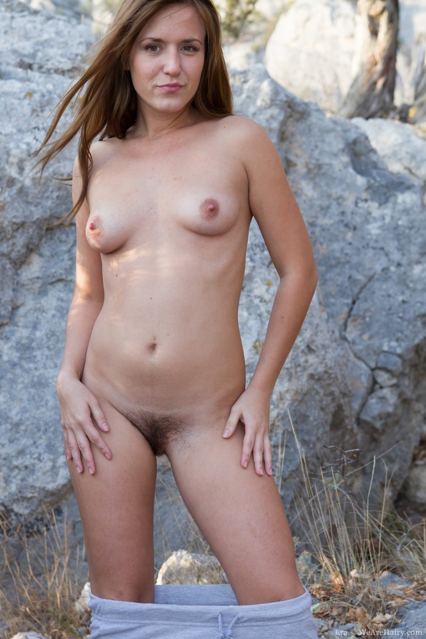 Natural redhead hairy standing in the nude confirm